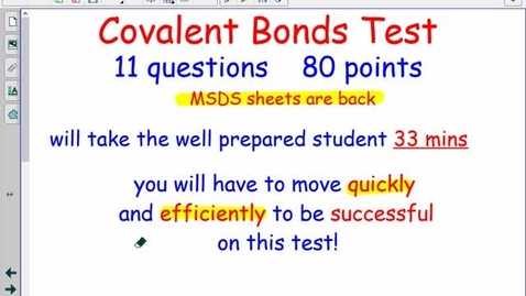 Thumbnail for entry Unit 8: Covalent Bonds Review