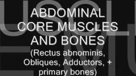 Thumbnail for entry DLP1 Abdominal Muscles & Bones Lecture