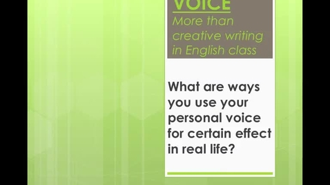 "Thumbnail for entry Rhetorical Appeals - Episode 1 ""Voice and the Art of Persuasion"""