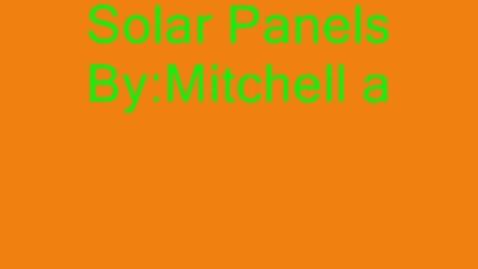 Thumbnail for entry (N) Solar Panels