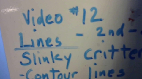 Thumbnail for entry Video #12  lines    Slinky Critters
