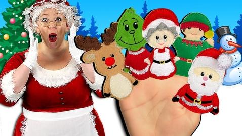 Thumbnail for entry Christmas Finger Family Song | Holidays Finger Family Nursery Rhyme for kids