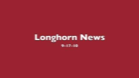 Thumbnail for entry Longhorn News 9-17-10