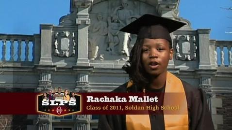 Thumbnail for entry Rachaka Mallet, a Graduate of SLPS's Soldan High School