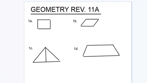 Thumbnail for entry Geom Rev 11A solutions