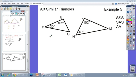 Thumbnail for entry 9.3 Similar Triangles Example #5