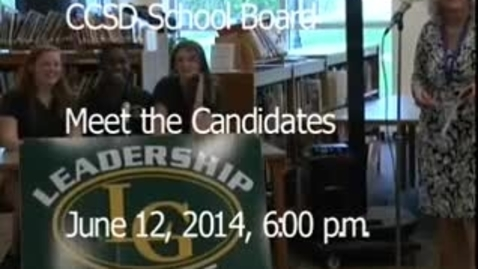Thumbnail for entry Meet the Candidates 2014