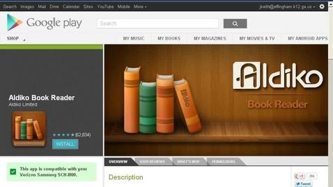 Thumbnail for entry Aldiko Reader App