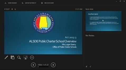 Thumbnail for entry Charter Schools Webinar