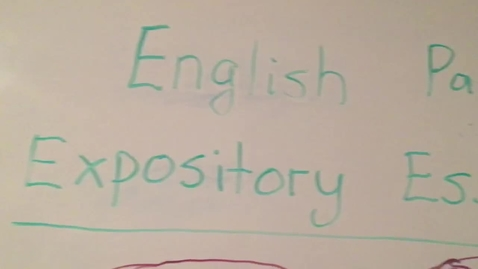 Thumbnail for entry Expository Essay Part 2