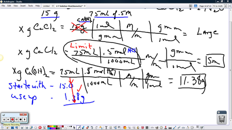 Thumbnail for entry Limiting Reagent Problem with Molarity
