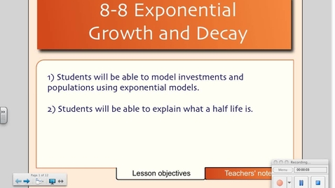 Thumbnail for entry 8-8 Exponential Growth and Decay
