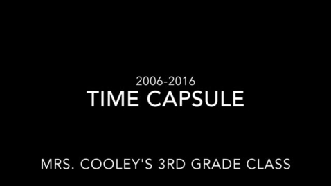 Thumbnail for entry Time capsule made by the 2016 seniors discovered