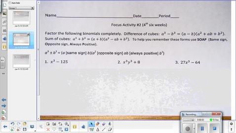 Thumbnail for entry Variation lesson pt 1   1-8-14