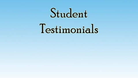 Thumbnail for entry Student Testimonials- Edwin Thomason