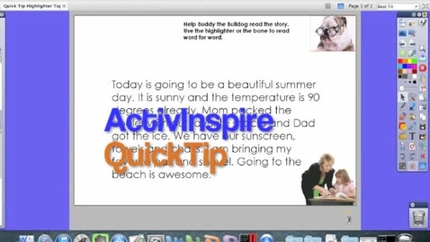 Thumbnail for entry ActivInspire ActivTip Highlighter Tool