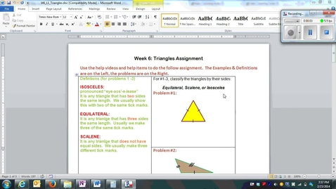 Thumbnail for entry W6_L1_Triangles (Equilateral, Scalene, Isosceles) Q1-Q4