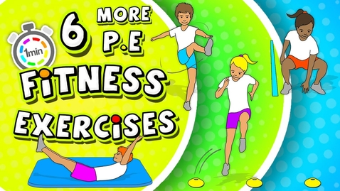 Thumbnail for entry 6 MORE P.E Fitness Circuit activities | Grades K-8