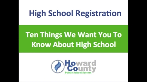 Thumbnail for entry HCPSS High School Requirements