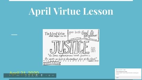 Thumbnail for entry April Virtue Lesson