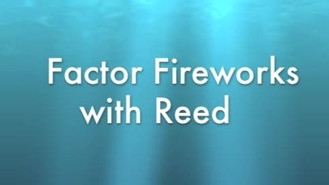 Thumbnail for entry Factors with Reed