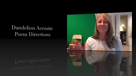 Thumbnail for entry Acrostic Poetry Lesson - How To