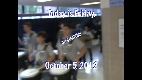 Thumbnail for entry Friday, October 5, 2012