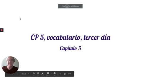 Thumbnail for entry CP 5 TERCER DIA, VOCAB