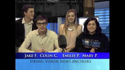 Thumbnail for entry Viking Vision News Tues 3-10-2015