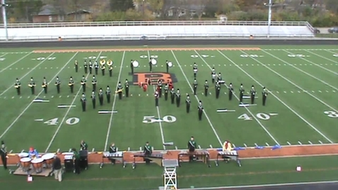 Thumbnail for entry Harrison High School Marching Wildcats compete at Beavercreek 11-03-12