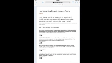 Thumbnail for entry Judges instructions Homecoming