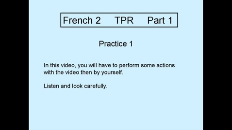 Thumbnail for entry TPR L2 Part 1 Practice 1