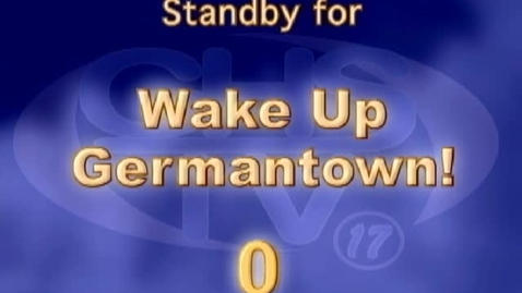 Thumbnail for entry Wake Up, Germantown! December 1