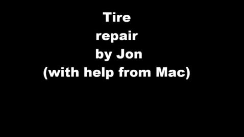 Thumbnail for entry Tire repair by Jon