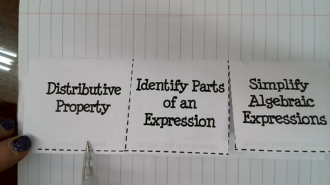 Thumbnail for entry Distributive Property and Simplify Algebraic Expressions part 1