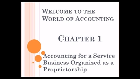 Thumbnail for entry Chapter 1 Accounting Lecture