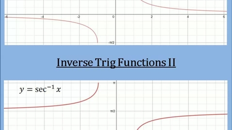 Thumbnail for entry Inverse Trig Functions II