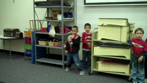 "Thumbnail for entry Mrs. Hendrix Kindergarten Class (A) acting out the music ""Syncopated Clock"" by Leroy Anderson"