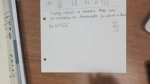 Thumbnail for entry Algebra II 2-13-18