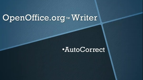 Thumbnail for entry Use AutoCorrect in OpenOffice.org™ Writer