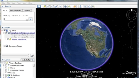 Thumbnail for entry Showing Two Different Views of the Same Location in Your Google Earth Tour