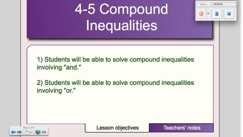 Thumbnail for entry 4-5 Compound Inequalities # 1