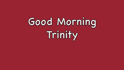 Thumbnail for entry Morning Message