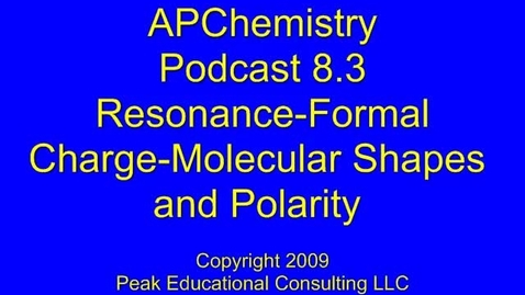 Thumbnail for entry AP Chem 8.3 Resonance-Molecular Shape