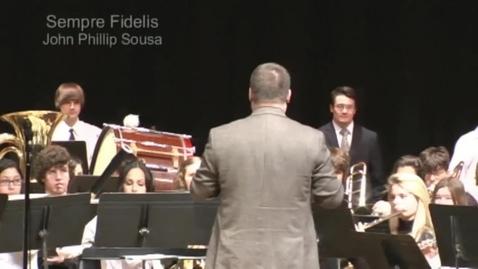 Thumbnail for entry Sempre Fidelis by John Phillip Sousa: Charter Oak Music Festival 2010
