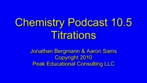 Thumbnail for entry Chem AcidBase5 Titrations