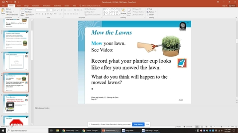 Thumbnail for entry Mowing the Lawns-  Science Journal Directions