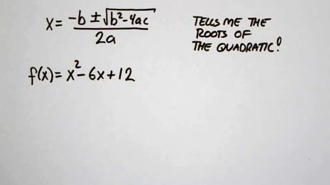 Thumbnail for entry 5-6 Using the Quadratic Formula