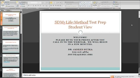 Thumbnail for entry Student View of Method Test Prep