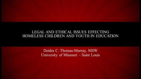 Thumbnail for entry Deidra Thomas-Murray Describes Homeless Student Obstacles